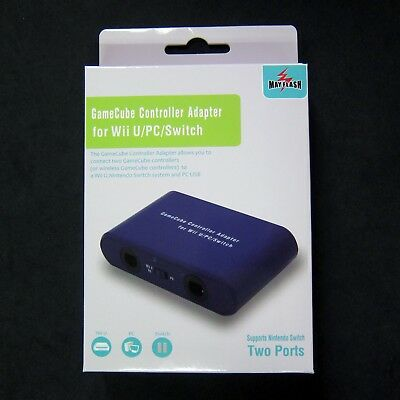 MAYFLASH 2 Ports GC GameCube Controller Adapter for Wii U PC USB Nintendo Switch