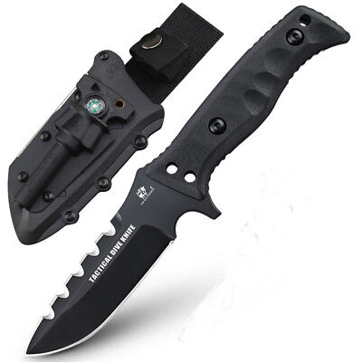 HX outdoors D2 steel Fixed Blade Tactical Knives with Sheath, G10  Handle