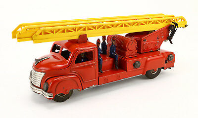 GÜNTHERMANN Blech Feuerwehr Leiterwagen 50's Vintage Tin Toy Truck Fire Engine