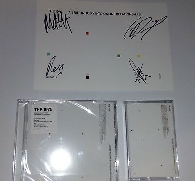 The 1975 A Brief Enquiry Exclusive Signed Bundle Artprint Cd Cassette New