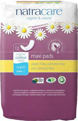 Sanitary Napkins Maxi Pads Super - Natracare - 12 Pieces