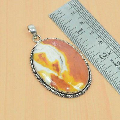 Huge 925 Sterling Silver Plated Natural Mookaite Pendant Jewelry Im97824