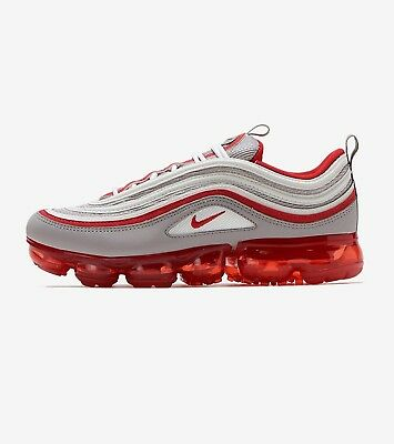 sports shoes 2bc63 a31ad BV1153-002 GS Nike Air VaporMax 97 GreyRed NEW