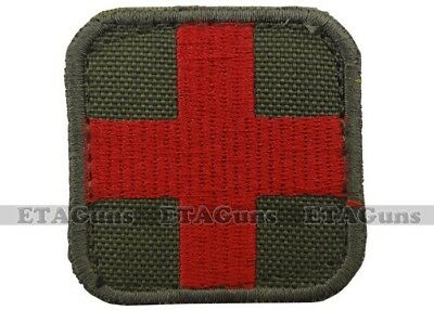 "CONDOR 2"" x 2"" Green Red Medic EMT EMS Doctor Badge ISAF Military Morale Patch"