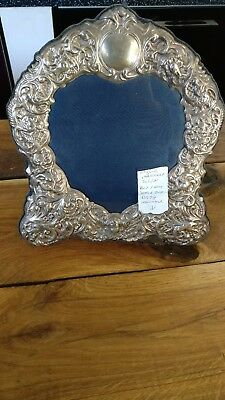 "Vintage English Hallmarked Silver Photo Frame 11 x 10"" Approx (v)"