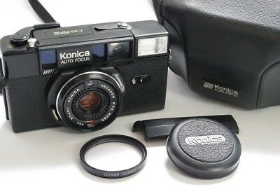 Konica C35 AF2 35mm compact autofocus camera, CDS metered,+ 38mm f2.8 Hexanon