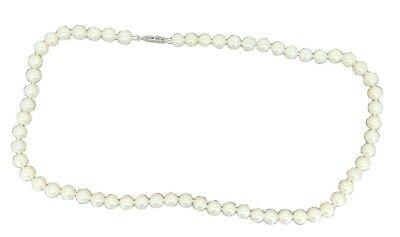 Akoya 6.5mm Saltwater Pearl Strand Necklace with 14k White Gold Clasp (#J4181)