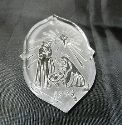 Waterford Songs of Christmas Crystal Ornament - Silent Night 1996