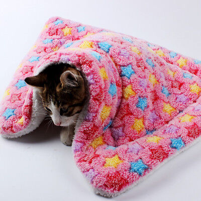 """Pet Cat Dog Bed Warm Sleep Mat Blanket Crate Kennel Cushion Pad 20x30"""" Pink"""