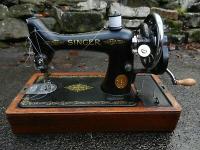 Old/vintage Singer Portable Sewing Machine - Y9147979 - Good Working Condition