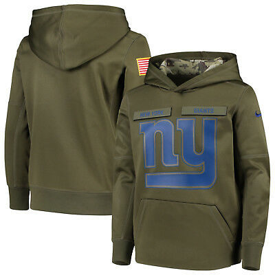 New York Giants YOUTH Green Nike Salute to Service Pullover Performance  Hoodie c2b4aa11f
