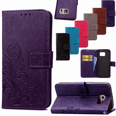 Slim Shockproof Leather Stand Card Wallet Phone Case For Samsung Galaxy A7 A3 A5