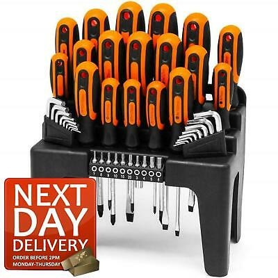 44Pc Screwdriver Set Phillips Torx Star Slotted Hex Key Security Bits