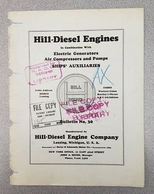 1925 Hill-Diesel Engine Company Sales Catalog