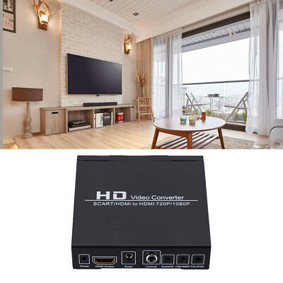720P/1080P HD Audio Video DVD TV Box SCART/HDMI to HDMI Adapter Converter Cable