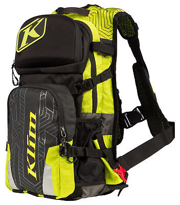 Black HMK Shovel Lime Klim Nac Pak Snowmobile Mountain Backpack Nack Back Pack