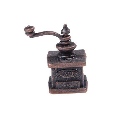 1/12 Dollhouse Miniature Kitchen Vintage Coffee Grinder For Doll Gift FDCA