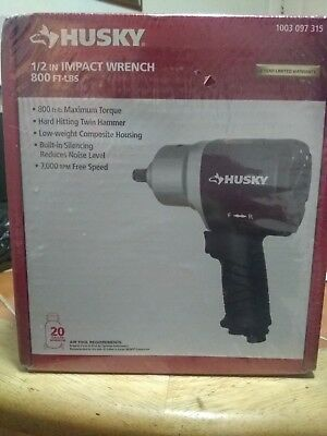 Husky Impact Wrenches 1/2 in. 800 ft. -lbs. Impact Wrench H4480