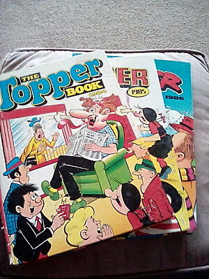 Vintage Topper annuals 1984 1985 1986