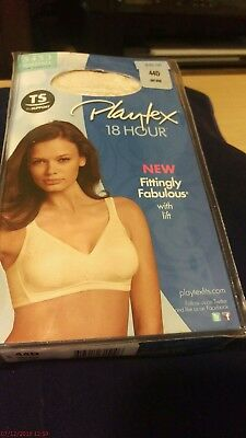 a017acd9714 PLAYTEX 18 HOUR Fittingly Fabulous Wirefree Bra size 44D 5453 ...