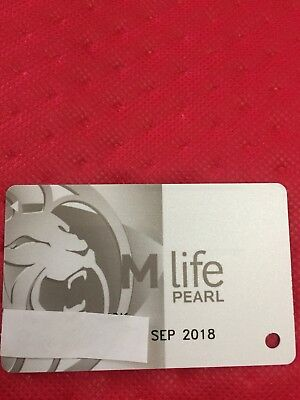 M Life Pearl Casino Slot Players Card Exp 9/18