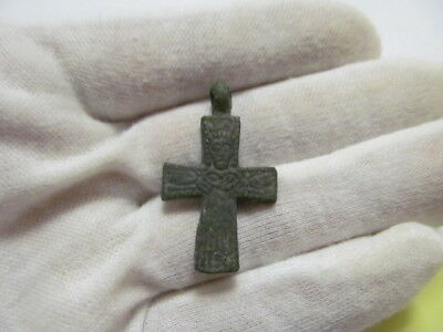 Ancient bronze cross Kievan Rus Vikings 10-13 AD № 477/5.