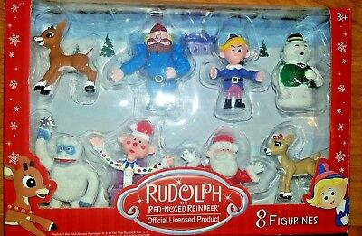Rudolph the Red-Nosed Reindeer Main Characters in Classic Movie, 8 piece set