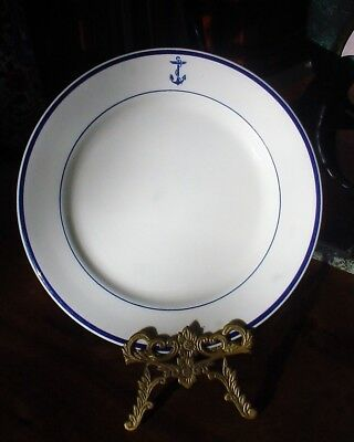 """SHENENGO China US Navy Mess Wardroom Officer Fouled Anchor 9-5/8"""" solo PLATE"""