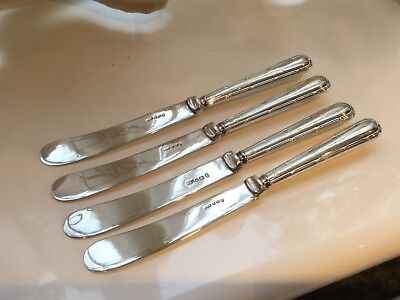 Lovely Antique William Suckling Sterling Silver Handled Butter Knives Circa 1922