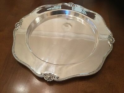 Lovely Antique James Deakin Silver Plated Drinks Tray