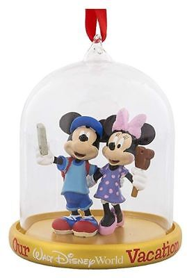 Disney Parks Mickey & Minnie Mouse 2018 Our Vacation Christmas Ornament