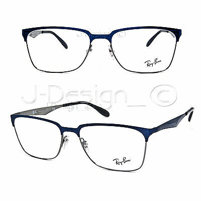 d9a5156423 RAY BAN RB 6344 2863 Blue Gunmetal 56 17 145 Eyeglasses Rx Made in ...