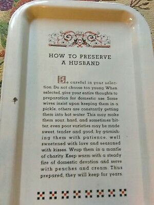 """Vintage Ball Canning Company """"How to Preserve a Husband"""" Tin Shipping Included"""