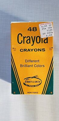 Unused Binney & Smith Vintage Crayola Crayons 48 Pack Different Brilliant Colors