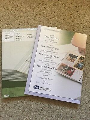 Creative Memories 8.5x11 8 1/2 White Pages & Protectors Refill Set NEW TRIBUTE