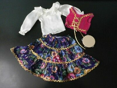 Magic Attic Doll Heather's Gypsy Outfit Top Vest Skirt Tambourine Retired Tonner