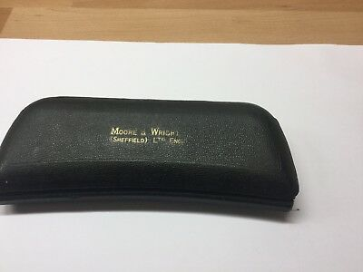 """Moor And Wright 1"""" Micrometer No/ 964B In Case"""