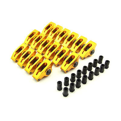 "SBF Roller Rockers Aluminum 1.6 Ratio 7/16"" Stud Full Roller Gold 289 302 351"