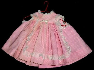 1950s Pink Tagged MADAME ALEXANDER Baby Doll DRESS