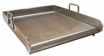 HEAVY 18 x 16 in Wide Stainless Steel Flat Top Griddle Grill Single Burner Stove