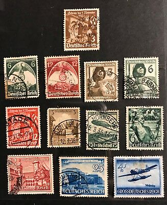 Germany  postage stamps lot of 12 old