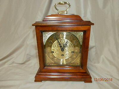 SLIGH Mantle Clock with Franz Hermle 2 Jewel Movement - Westminster Chime & Key