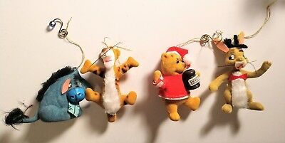 Vintage Lot (4) Walt Disney Productions Winnie The Pooh And Characters