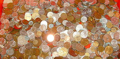 20 lbs. TWENTY pounds ASSORTED WORLD FOREIGN Thousands of COINS Free Shipping