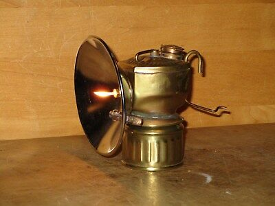 Miners JUSTRITE CARBIDE LAMP - WORKING - NICE!!