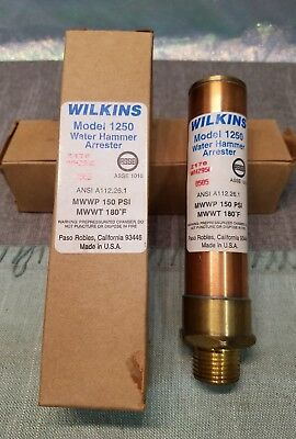 "Wilkins Model 1250-A Water Hammer Arrester 1/2"" N.p.t.    🤑brand New Free S&h🤑"