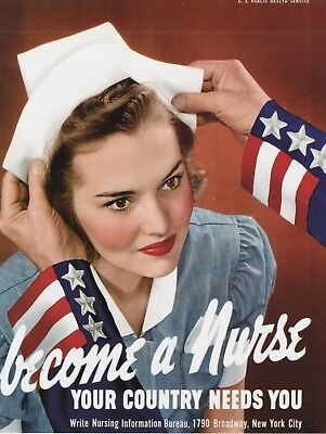 """*Postcard-""""Become A Nurse...Your Country Need You""""  -Classic-"""