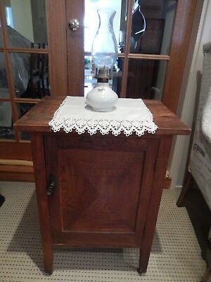 Antique timber side table