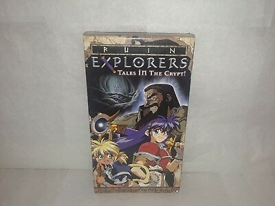 Ruin Explorers Vol 1 Tales in the Crypt Anime VHS Video Tape New English Subbed