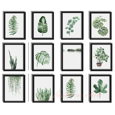 Nordic Watercolor Plant Palm Leaf Canvas Paint Art Poster Home Wall Picture DIY